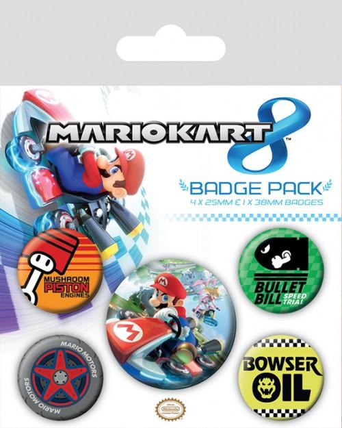 Mario Kart 8  Badge Pack