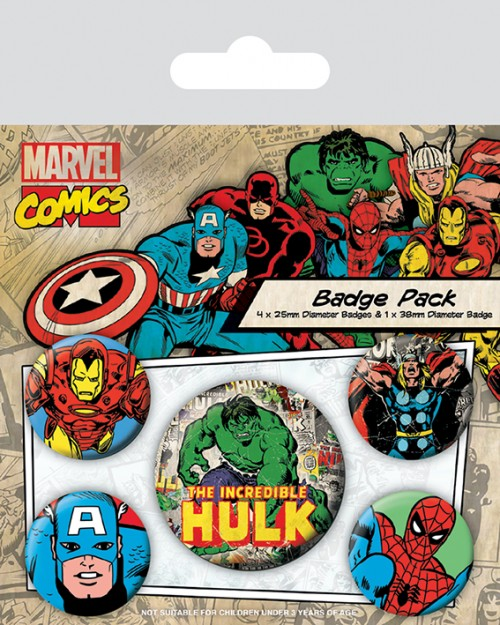 Marvel Comics (Hulk)  Badge...