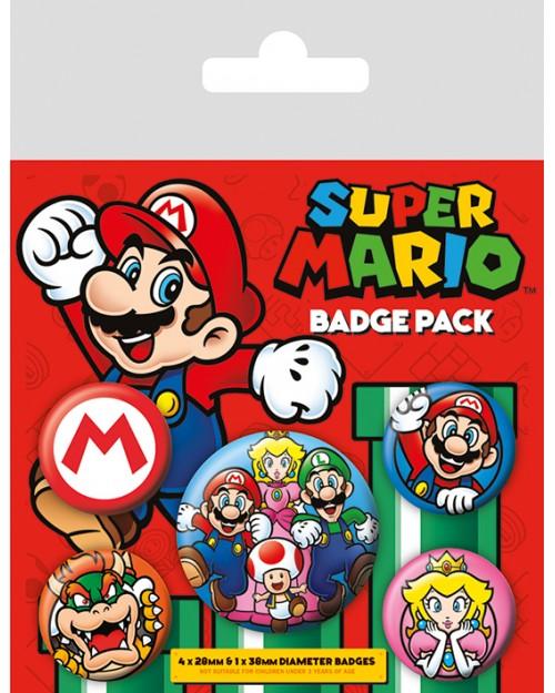 Super Mario (Mario)  Badge...